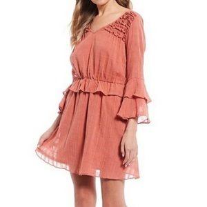 Chelsea & Violet Ruffle Prairie Boho Dress M